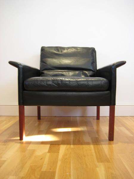 Hans Olsen Danish Leather Chair
