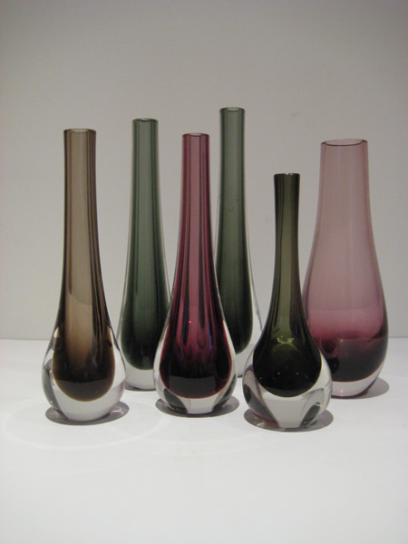 Whitefriars And Caithness Bud Vases