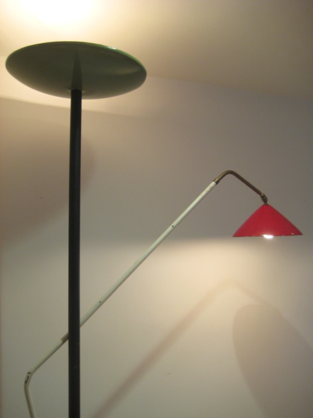 1950s italian floor lamp for Floor lamp with dual reading lights