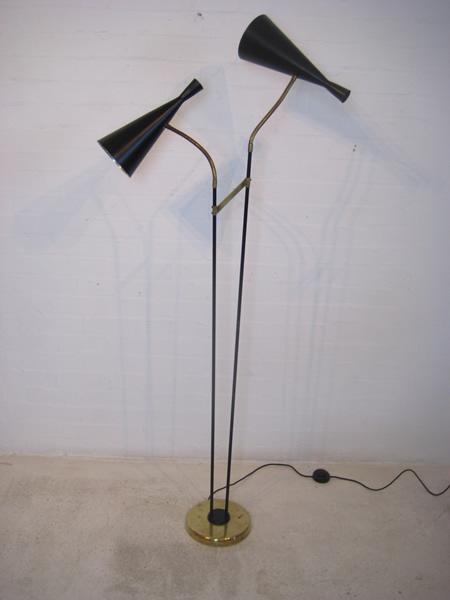1950s double head floor lamp audiocablefo